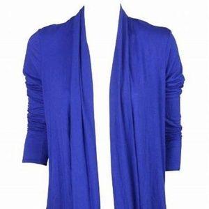 BCBGmaxazria royalblue color women open cardigan,